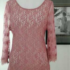 Gimmicks BKE Womens Boho Cotton Lace Sheer Size S